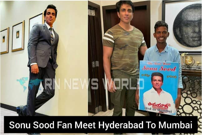 A people Venkatesh reached Mumbai from Hyderabad barefoot to meet Sonu Sood